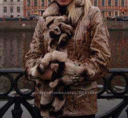 Утепленная курточка мех шиншиллы