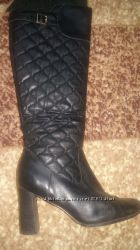 Женские демисезонные сапоги кожаные Dumonde