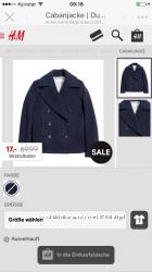 Куртка пальто демисезонное H&M размер 3638