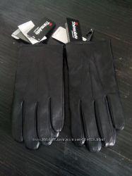 перчатки M&S  кожание черние теплие для сесорного екрана