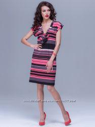 Двухстороннее платье МИРАНДА полоска коралл ТМ JET. В наличии