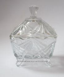 Новая стекляная вазочка для варенья,  конфетница