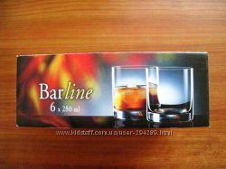 Стаканы для виски, напитков  Barline  6 штук, 280 мл. Bohemia, Чехия