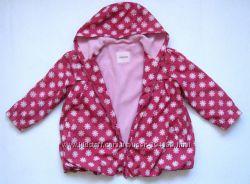 Красный  в ромашках плащ, ветровка,  флис,  Cherokee девочке 4-5 лет.