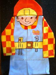 Яркий банный халат для мальчика БОБ строитель