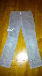 Вельветовые брюки для девочки на 3-5 лет
