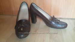 кожаные туфли GEOX р. 39