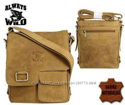 Мужская кожаная сумка ручной работы Wild LB143-H