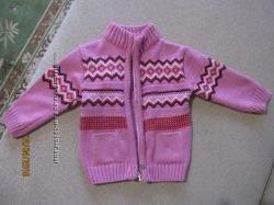 свитерочек на принцессу розовый на молнии