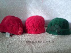 Шапки, кепки, береты женские ангора в ассортименте.