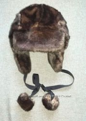 Шапка ушанка женская  меховая под норку искуственый мех