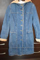 джинсовое пальто девочке 10 -13 лет