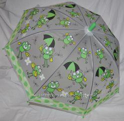 Зонтик зонт матовый полу прозрачный грибком детский Разные