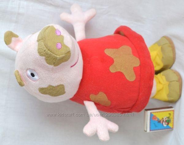 Свинка Пеппа грязнуля Peppa Pig говорящий и прыгающий герой