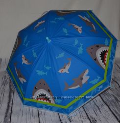Зонтик зонт детский трость с яркими картинками разные со свистком