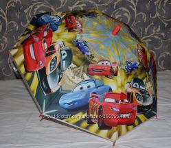 Зонтик зонт детский с героями матовый Тачки Маквин Спайдермен Эльза Маус