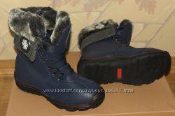 Ботинки зимние синие 37