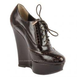 шикарнючие коричневые ботильоны и туфли Antonio Biaggi р. 34-35