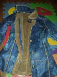 Пальто рост140. ТМ Сarbone. Пальто и унисекс серое тулуб