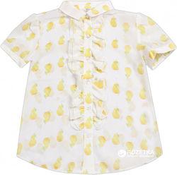 Нарядная блуза для девочки, р. 32, с коротким рукавом Gaialuna