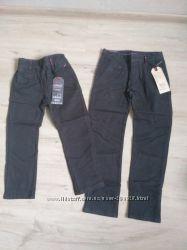 Новые котоновые брюки для мальчика 116-146. Венгрия. Школа. Серые и синие.