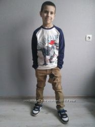 Стильные котоновые брюки для мальчика 116-146. Венгрия.