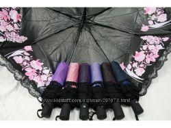 Зонт-полуавтомат. Хамелеон с напылением