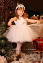 f8f7c6955e2 Прокат платье белое бальное Снежинка на 2-3-4 года