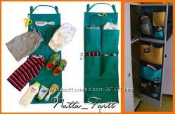 Подвесные кармашки для шкафчика в детском саду. Всё всегда на своём месте