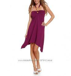 Платье фиолетовое с деревянными бусинами Yessica