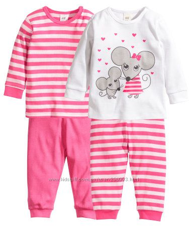 Пижамы мальчикам и девочкам.