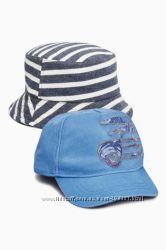 Синяя кепка и панамка от Next на 5-6 лет