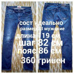 мужские джинсы, брюки сост отлично