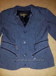 Пиджак серого цвета на девочку, р. 134 см, можно до 146 см