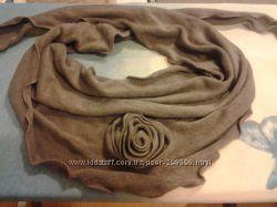 Элегантный шарфик серо-коричне