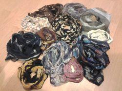 Набор 12 элегантных шарфиков разных цветов