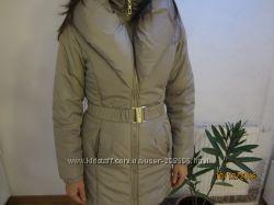 Шикарная теплая серобежевая куртка Fascinate р, S.