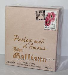 John Galliano Parlez-Moi dAmour Женский 30мл в слюде оригинал