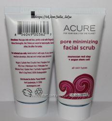 Скраб для уменьшения и очищения пор Acure Organics USA оригинал