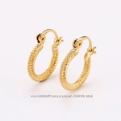 Сережки кольца GF 18 К