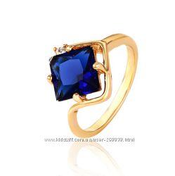 Шикарное кольцо GF 18К  размеры 19, 20 мм.