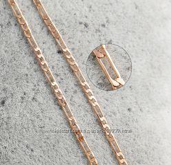 Цепочка GF 18 К 450х2 мм унисекс. Розовое золото