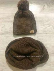 комплект шапка и шарф-снуд