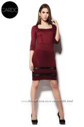 Распродажа Платье-футляр в винном цвете