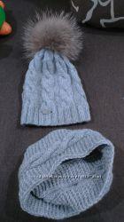 Очень стильные комплекты  шапки с шарфами