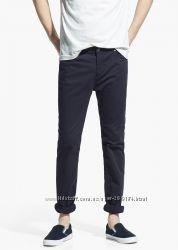 Хлопковые брюки Slim-Fit от Mango Испания. Размер 36 наш 42