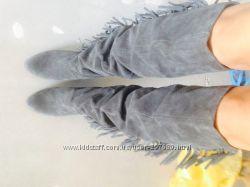 Демисезонные сапоги ботфорты, 39 размер