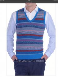 Шикарный жилет пуловер от Paul Smith оригинал L XL шерсть кашемир