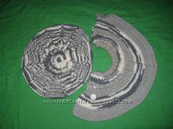 береты, шарф, перчатки для девочки