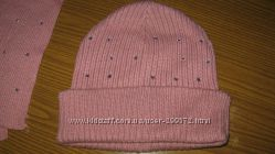 Комплект шапочка с шарфиком для девочки разм 55-57